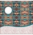 geometric tribal pattern with place for your text vector image vector image
