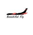 Graphic sign of a plane on a white background vector image vector image