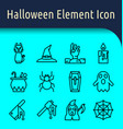 halloween line icon2 vector image vector image