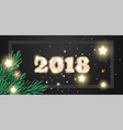 happy new year 2018 banner vector image vector image