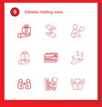 holding icons vector image vector image