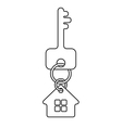 house key linework symbol vector image vector image