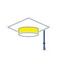 icon of graduation cap vector image vector image