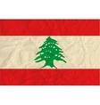 Lebanon paper flag vector image vector image