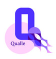 letter q - jellyfish qualle vector image