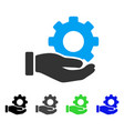 mechanic gear service hand flat icon vector image vector image