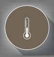 meteo diagnostic technology thermometer sign vector image vector image