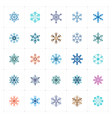 mini icon set - snowflake icon vector image vector image