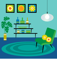 mod living room vector image