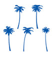 palm trees isolated on white background vector image vector image