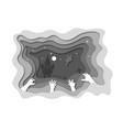 paper cut halloween backgrounds zombie hands vector image vector image