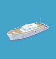 passenger liner marine travel vessel icon vector image vector image