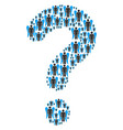 question mark figure of angel icons vector image