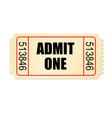 retro style cardboard cinema ticket vector image