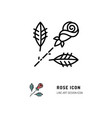rose icon flower rose logo line art design vector image