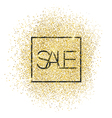 Sale Gold Glittering Card vector image