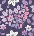 Seamless pattern with flowers and heart vector image