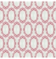 Seamless vintage wallpaper floral pattern retro vector image