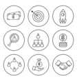 Set of thin line bussines icon vector image vector image