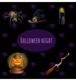 Set witches on Halloween party vector image vector image