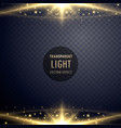 shiny sparkles light effect glowing effect vector image vector image