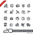 shipping and tracking icons - basics vector image