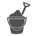 simple beach bucket icon vector image vector image