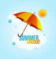 summer sale concept banner poster flyer card vector image