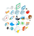 temporary problem icons set isometric style vector image vector image