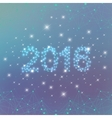 Text design Happy New Year 2016 on the blue vector image vector image