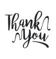 thank you black handwritten inscription vector image vector image