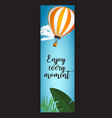 vertical summer travel banner with balloon vector image