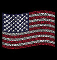 waving united states flag stylization of arrow up vector image