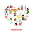 with kids icons vector image vector image