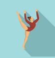 young gymnastic girl icon flat style vector image vector image