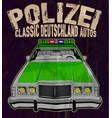 the vintage police car vector image