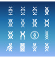 dna spiral icons - medicinal and biology vector image