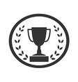 Trophy cup with Laurel wreath icon 4 vector image
