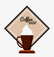 coffee shop cream espresso cream vector image