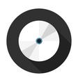 Data Disk Flat Circle Icon vector image