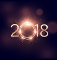 2018 happy new year sparkles background design vector image vector image
