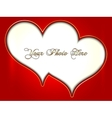 abstract pair of red and golden hearts vector image vector image