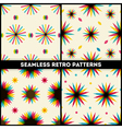 Abstract Retro Geometric seamless patterns collect vector image vector image