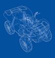 atv quadbike concept outline vector image