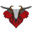 banner on theme love and death with pistols vector image vector image