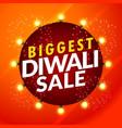 beautiful diwali sale template with light bulbs vector image vector image