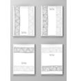 Brochure with Hand Drawn Doodle Border vector image