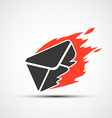 Burning envelope Stock vector image