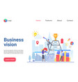 business vision flat landing page template vector image