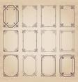 calligraphic decorative vintage frames vector image vector image